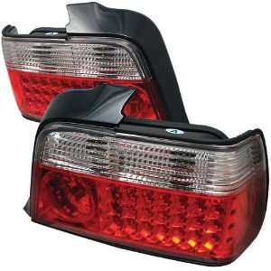 Redlines TL BE3692 4D LED RC Red/Clear Medium LED Tail Light for BMW