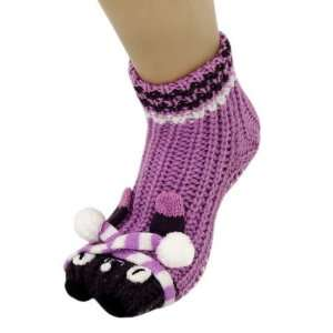 Panda Bear Non Skid 3D Animal Slipper Socks With Grips