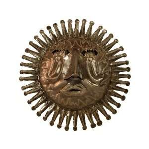 Haitian Metal Sun Face Wall Hanging   Oil Drum Art