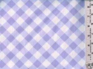 White & Purple Diagonal Check ~ Cotton Quilt Fabric BTY