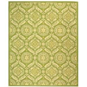 Chelsea Collection Hand Hooked Traditional Green Wool Area Rug 2.60 x