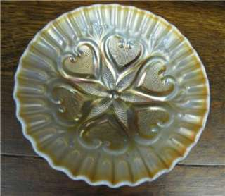 Dugan Starfish Peach Opalescent Carnival Glass Compote