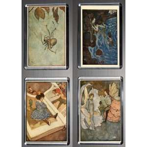 Gift Boxed Set of 4 Fridge Magnets Edmund Dulac 2