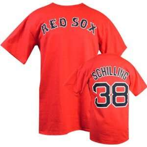 Curt Schilling Majestic Red Name and Number Boston Red Sox Youth T