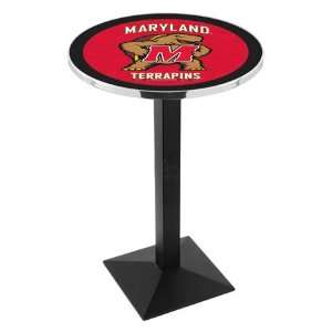 42 University of Maryland Bar Height Pub Table   Square