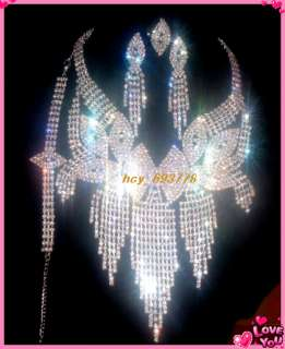 1Set Noble Prom/Bridal Crystal Rhinestone Necklace Set