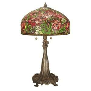 Dale Tiffany TT101247 Tiffany Table Lamp, Vb Brown and Art
