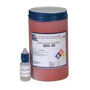 QSI QSil 60 Silicone, 2 Part, Self Leveling, Red, 1 Quart