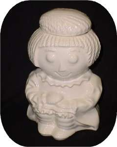 Vintage White McCoy Rag Doll Raggedy Ann Cookie Jar