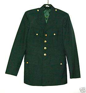ARMY ENLISTED MENS DRESS GREEN COAT   SIZE 38R   VG