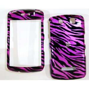 New Hot Pink Black Zebra Stripe Blackberry 9530 Storm Snap on Cell