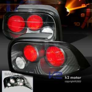 94 95 Ford Mustang Euro Black Altezza Tail Lights Lamps