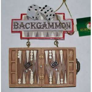 Kurt Adler BACKGAMMON Collectible Ornament Everything