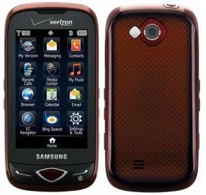 New Verizon Samsung SCH U820 Red Reality Touch Screen Phone