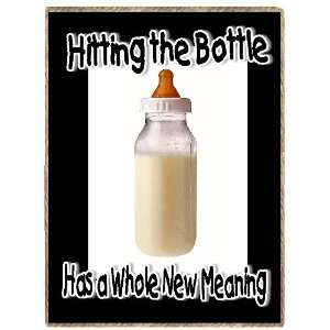 Funny Hitting the Bottle New Baby Gift Refrigerator Magnet