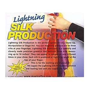 Lightning Silk Production Magic Trick Device Toys & Games