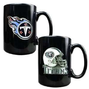 Tennessee Titans 2PC 15oz COFFEE MUG SET HELMET/PRIMARY LOGO NFL