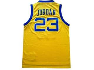 MICHAEL JORDAN 23 Laney High School Jersey Yellow