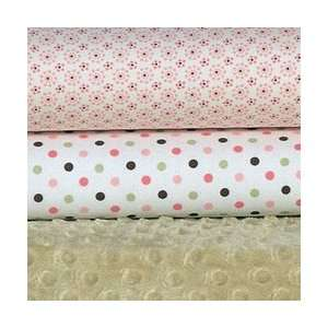 Carters Easy Fit Printed Crib Fitted Sheet   Pink/Green Dot Baby