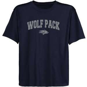 Nevada Wolf Pack Youth Navy Blue Logo Arch T shirt Sports