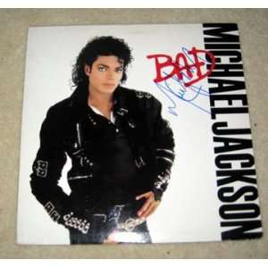 MICHAEL JACKSON autographed BAD record *PROOF