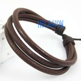 12pcs New Fashion Jewelry Women / Men Leather Hemp Braided Bracelet