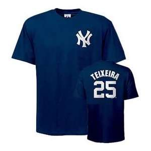 New York Yankees Mark Teixeira Name and Number T Shirt