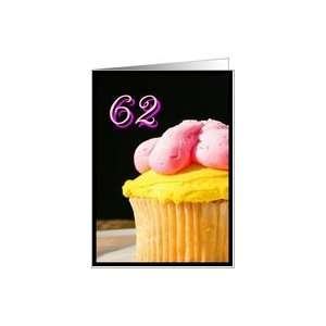 Happy 62nd Birthday muffin Card Toys & Games