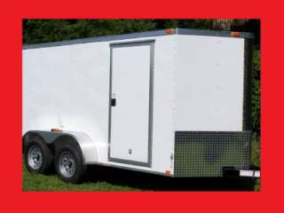 NEW 6X14 3500# TANDEM ROAD DOG CLASSIC SPORT ENCLOSED CARGO MOTORCYCLE