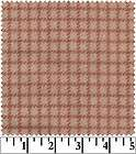 Pink Reverse Plaid Check Woolies Flannel Cotton Quilt Fabric Baby Girl