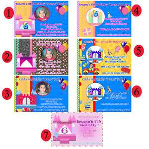 CIRCUS CARNIVAL BIRTHDAY PARTY INVITATIONS  U PRINT
