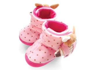 Pink Flocked Warm infant toddler baby Girl boot shoes size 2 3 4 0