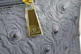 Jacky&Celine gift leather ladies tote GREY gold large office laptop