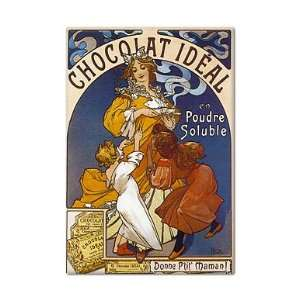 Ideal Chocolate Advertising Art Fridge Magnet