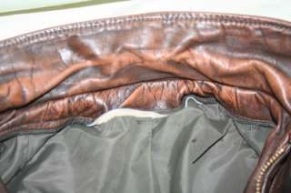 LESCO Vintage BUCKLEBACK Collared LEATHER Motorcycle/Bomber JACKET 36