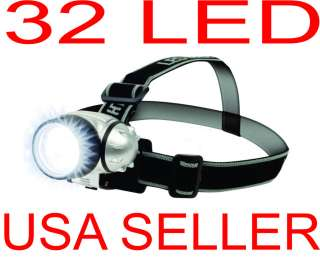 32 LED Headlamp With Adjustable Strap, Ultra Bright LED 3 Lighting