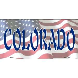 American Flag (Colorado) License Plate
