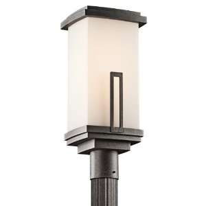 Kichler Lighting 49114AVI Leeds Light Outdoor Post Lantern, Anvil Iron