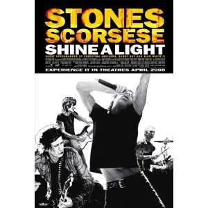 Shine A Light Poster Swiss 27x40 The Rolling Stones Bill Clinton Jack