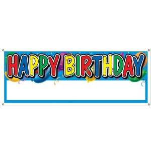 Happy Birthday Blank Sign Banner Case Pack 60