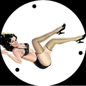 Pin Up Girl Kicking Legs WH Graphical Gibson or Epiphone