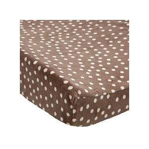 Koala Baby Plush Changing Pad Cover   Brown with Dots