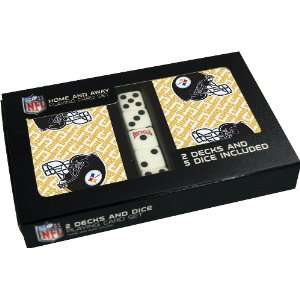 NFL Pittsburgh Steelers 2 Deck Playing Cards with Dice Set