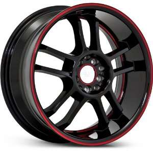 RUFF RACING WHE R952 RED STRIPE 5X100/5X4.5 3LIP   17X7.5