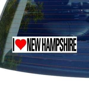 I Love Heart NEW HAMPSHIRE   Window Bumper Sticker