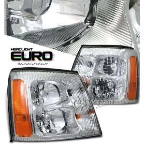 2002 2006 CADILLAC ESCALADE,SUV HEADLIGHT, CHROME W/O HID