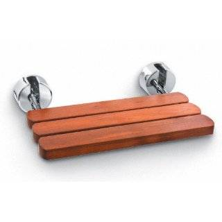 Mr. Steam MS WALLSEAT BN Teak Wood Wall Mounted Seat for Steambath