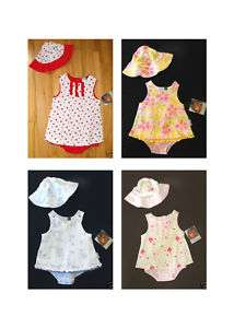 NWT Vitamins girl sun dress & hat set 6M 9M 12M 18M