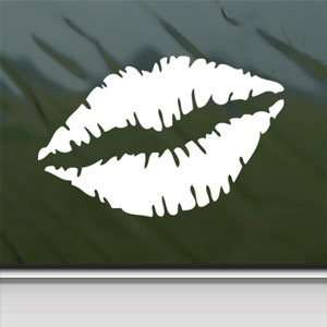 Woman Mouth Lip SEXY White Sticker Car Vinyl Window Laptop