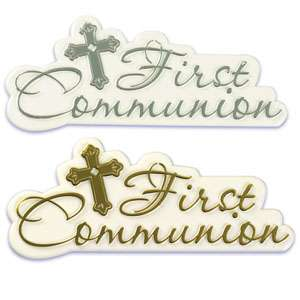 First Holy Communion Cake Topper Boy or Girl or Cake Script